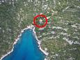 Property Uvala Tatinja (Hvar) - Accommodation 5729 - Apartments near sea with pebble beach.