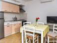 Srima - Vodice, Dining room u smještaju tipa apartment, dostupna klima i WIFI.