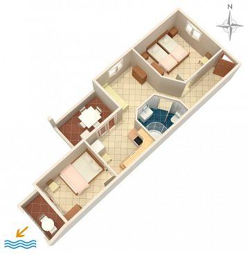Apartament A-575-b - Apartamenty Uvala Torac (Hvar) - 575