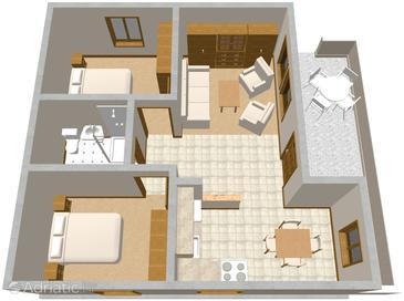 Apartment A-576-a - Apartments Lumbarda (Korčula) - 576