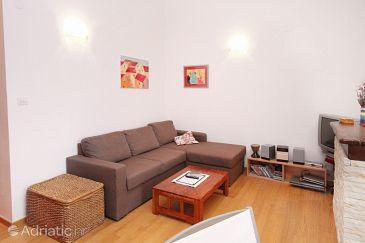 Zadar - Diklo, Living room u smještaju tipa apartment, dostupna klima, dopusteni kucni ljubimci i WIFI.