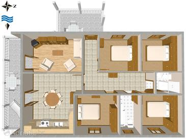 Apartment A-580-a - Apartments Sućuraj (Hvar) - 580
