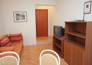 Vinjerac, Living room u smještaju tipa apartment, dopusteni kucni ljubimci i WIFI.