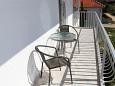 Biograd na Moru, Balcony u smještaju tipa studio-apartment, s pogledom na more, dopusteni kucni ljubimci i WIFI.