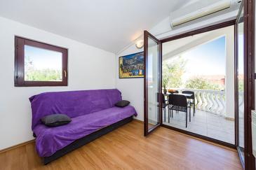Nin, Living room u smještaju tipa apartment, dostupna klima, dopusteni kucni ljubimci i WIFI.