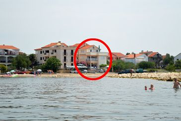 Property Sukošan (Zadar) - Accommodation 5864 - Apartments near sea with pebble beach.