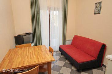 Zaton, Living room u smještaju tipa apartment, dostupna klima.