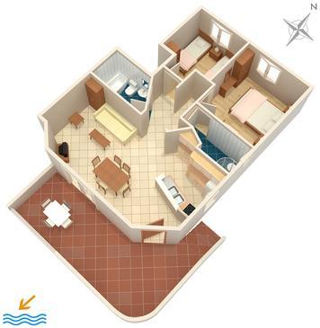 Apartment A-592-a - Apartments Ivan Dolac (Hvar) - 592