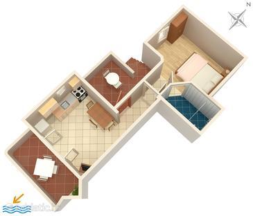 Apartment A-592-c - Apartments Ivan Dolac (Hvar) - 592