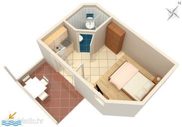 Studio flat AS-592-a - Apartments Ivan Dolac (Hvar) - 592