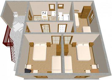 Apartment A-593-a - Apartments Zavala (Hvar) - 593