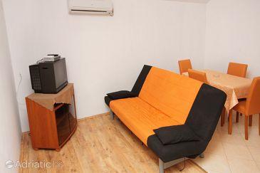 Nin, Living room u smještaju tipa apartment, dostupna klima i WIFI.