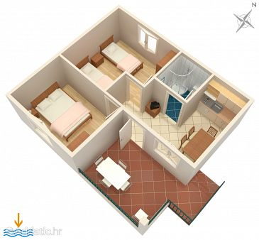 Apartment A-5946-a - Apartments Vinišće (Trogir) - 5946