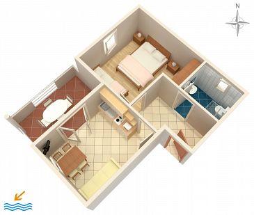 Apartment A-5951-c - Apartments Vrsi - Mulo (Zadar) - 5951