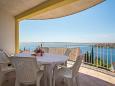 Mavarštica, Terrace u smještaju tipa apartment, s pogledom na more, dopusteni kucni ljubimci i WIFI.