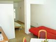 Komarna, Dining room u smještaju tipa studio-apartment.