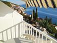 Komarna, Terrace u smještaju tipa studio-apartment, s pogledom na more.
