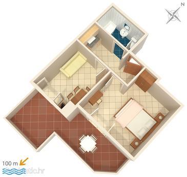 Apartment A-6056-a - Apartments and Rooms Brela (Makarska) - 6056