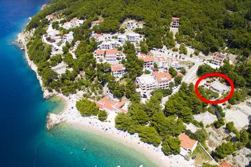 Property Brela (Makarska) - Accommodation 6056 - Apartments and Rooms near sea with pebble beach.