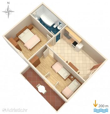 Apartment A-6057-b - Apartments Baška Voda (Makarska) - 6057