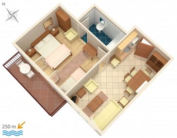 Apartment A-6085-a - Apartments and Rooms Podgora (Makarska) - 6085