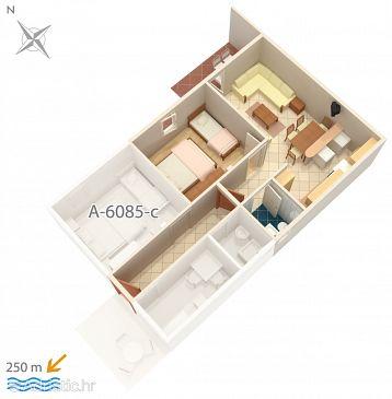 Apartment A-6085-b - Apartments and Rooms Podgora (Makarska) - 6085