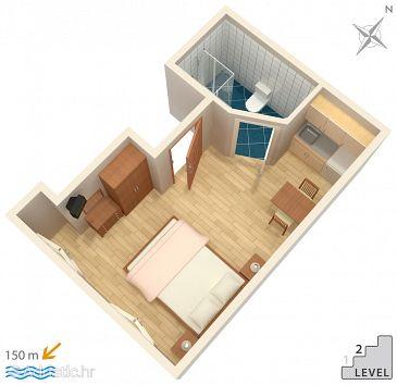 Studio flat AS-6086-a - Apartments Podgora (Makarska) - 6086