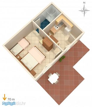 Apartment A-6116-f - Apartments Marina (Trogir) - 6116