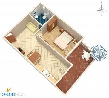 Apartment A-6155-b - Apartments Vrsi - Mulo (Zadar) - 6155