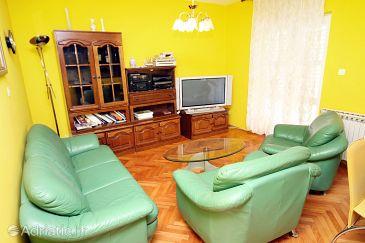 Bibinje, Living room u smještaju tipa apartment.
