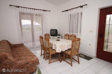 Pašman, Dining room u smještaju tipa apartment, dostupna klima i dopusteni kucni ljubimci.