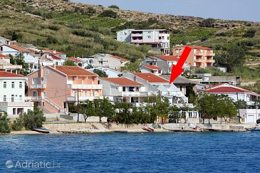 Property Metajna (Pag) - Accommodation 6289 - Apartments near sea with pebble beach.