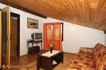 Povljana, Living room u smještaju tipa apartment, dopusteni kucni ljubimci i WIFI.