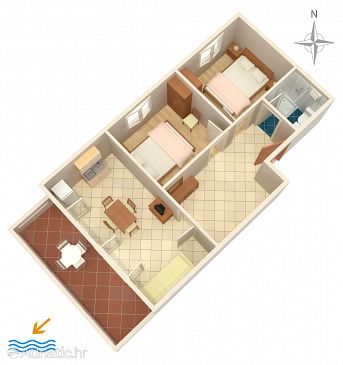 Apartment A-6298-a - Apartments Povljana (Pag) - 6298