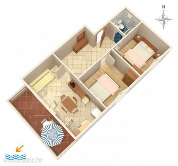 Apartment A-6298-b - Apartments Povljana (Pag) - 6298