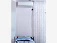 Stara Novalja, Bedroom u smještaju tipa apartment, dostupna klima, dopusteni kucni ljubimci i WIFI.