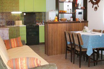 Vir, Dining room u smještaju tipa apartment, dostupna klima, dopusteni kucni ljubimci i WIFI.