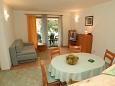 Petrčane, Living room u smještaju tipa apartment, WIFI.