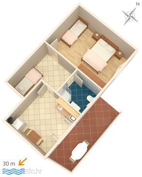 Apartment A-6356-e - Apartments Zubovići (Pag) - 6356