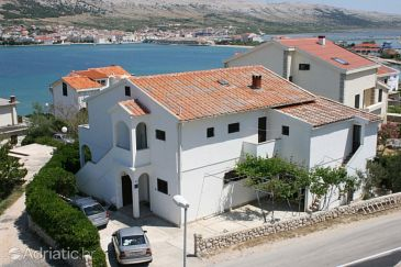 Property Pag (Pag) - Accommodation 6383 - Apartments near sea with pebble beach.