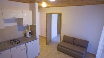 Metajna, Living room u smještaju tipa apartment, dostupna klima, dopusteni kucni ljubimci i WIFI.