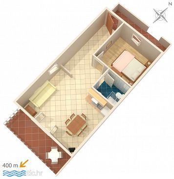 Apartment A-639-a - Apartments Mokalo (Pelješac) - 639