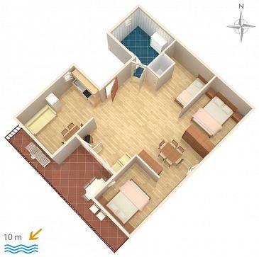 Studio AS-6390-a - Apartamenty Stara Novalja (Pag) - 6390