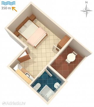 Studio flat AS-6399-b - Apartments Novalja (Pag) - 6399