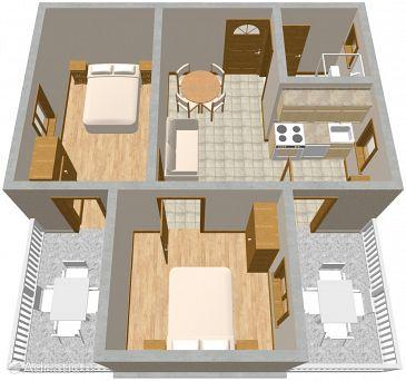 Orebić, Plan u smještaju tipa apartment, dopusteni kucni ljubimci i WIFI.