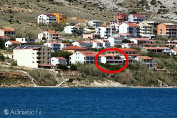 Property Pag (Pag) - Accommodation 6404 - Apartments near sea with sandy beach.