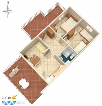 Apartment A-6426-a - Apartments Metajna (Pag) - 6426