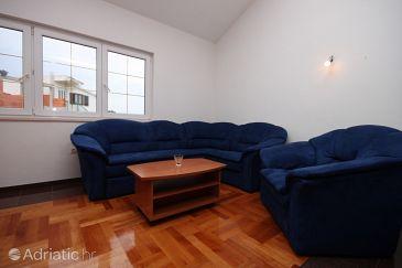 Rogoznica, Living room u smještaju tipa apartment, dostupna klima i WIFI.