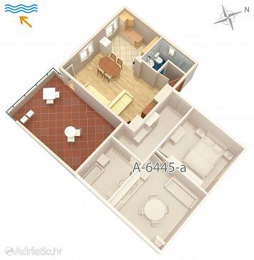 Studio flat AS-6445-a - Apartments Turanj (Biograd) - 6445