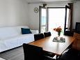 Pirovac, Living room u smještaju tipa apartment, dopusteni kucni ljubimci i WIFI.
